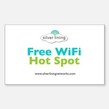 Free WiFi Hot Spot Window Decal