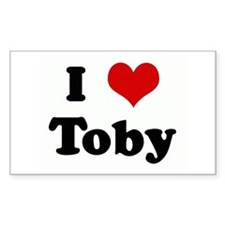 I Love Toby Rectangle Decal