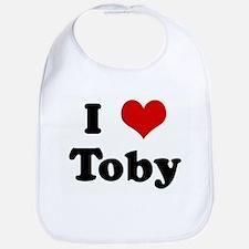 I Love Toby Bib