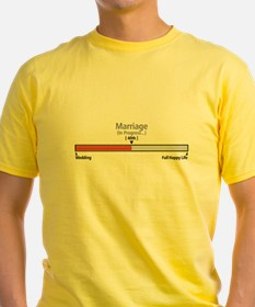 Progress Bar Marriage 40 T-Shirt