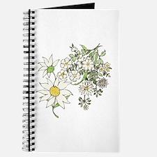 Vintage Floral Art Daisies Illustration Journal