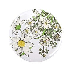 Vintage Floral Art Daisies Illustration 3.5