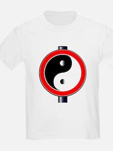 Yin Yang Traffic Sign T-Shirt