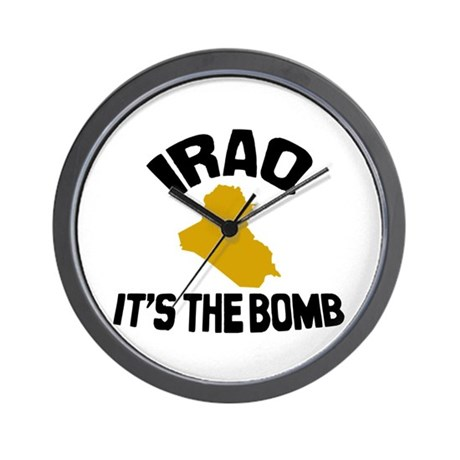 Iraq Is The Bomb Wall Clock