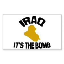 Iraq Is The Bomb Rectangle Decal