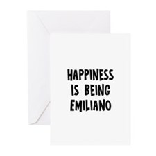 Happiness is being Emiliano Greeting Cards (Pk of