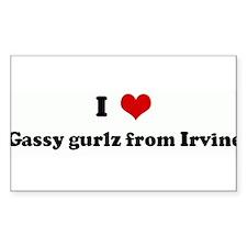 I Love Gassy gurlz from Irvin Sticker (Rectangular