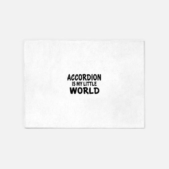 Accordion Is My Little World 5'x7'Area Rug