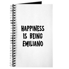 Happiness is being Emiliano Journal