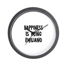 Happiness is being Emiliano Wall Clock