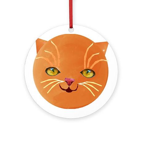 orange cat face Ornament (Round)