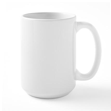 orange cat face Large Mug