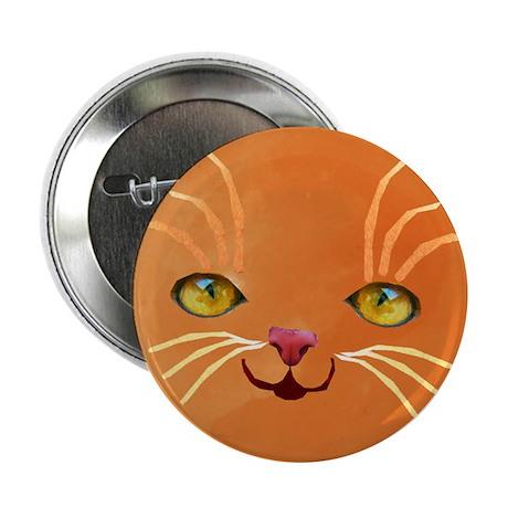 "orange cat face 2.25"" Button (100 pack)"