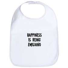 Happiness is being Emiliano Bib