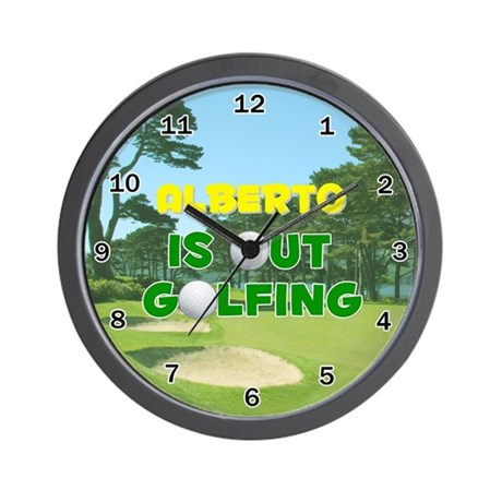 Alberto is Out Golfing - Wall Clock