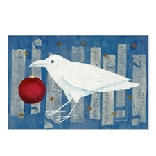 White Crow Holiday Postcards (Package of 8)