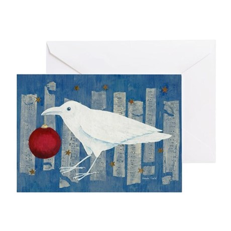 White Crow Holiday Greeting Card