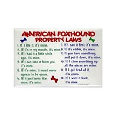 American Foxhound Property Laws 2 Rectangle Magnet
