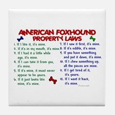 American Foxhound Property Laws 2 Tile Coaster