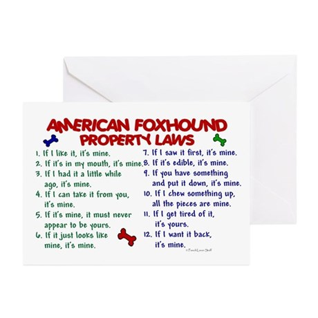 American Foxhound Property Laws 2 Greeting Cards (