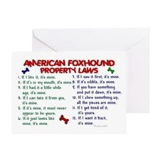 American Foxhound Property Laws 2 Greeting Card