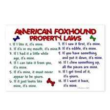 American Foxhound Property Laws 2 Postcards (Packa