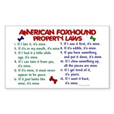 American Foxhound Property Laws 2 Decal