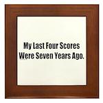 My Last Four Scores Framed Tile