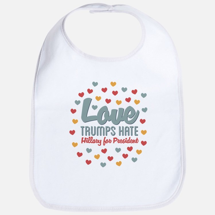 Hillary Love Trumps Hate Bib