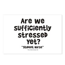 Sufficiently Stressed Nurse Postcards (Package of