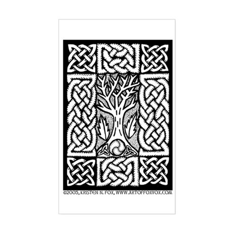 Celtic Knot Bare Branches Sticker (Rectangle) by artoffoxvox