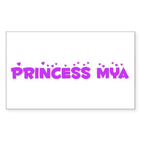 Princess Mya Rectangle Sticker