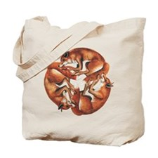 Celtic Foxes Tote Bag