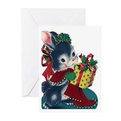 Vintage Style Christmas Cards (Pk of 10)