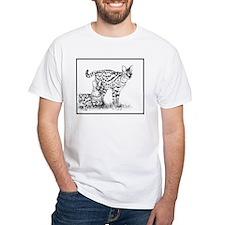 Two Servals in grass Shirt