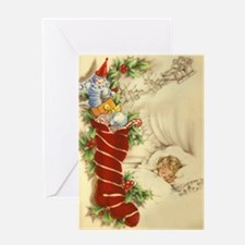 Vintage Style Christmas Greeting Card.