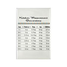 Kitchen Measure Chart Rectangle Magnet (100 pack)