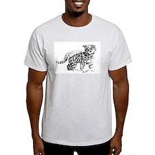 Serval Cub Ash Grey T-Shirt