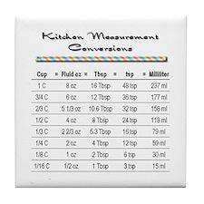Kitchen Measure Chart Tile Coaster