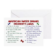 American Water Spaniel Property Laws 2 Greeting Ca
