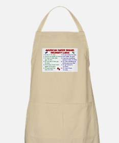 American Water Spaniel Property Laws 2 BBQ Apron