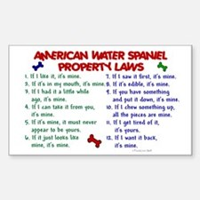American Water Spaniel Property Laws 2 Decal