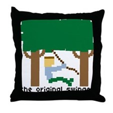 the original swinger - Throw Pillow