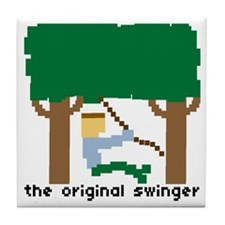 the original swinger - Tile Coaster