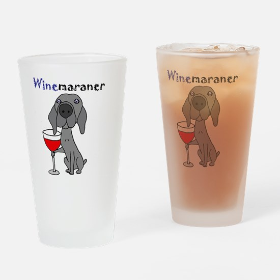 Cute Weimaraner Drinking Glass