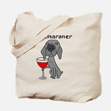 Cute Red wine Tote Bag