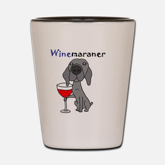 Cute Weimaraner wine Shot Glass