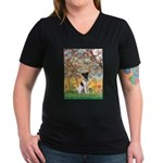 Spring / Fox T (1) Women's V-Neck Dark T-Shirt