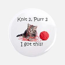 Cute Knitting Button
