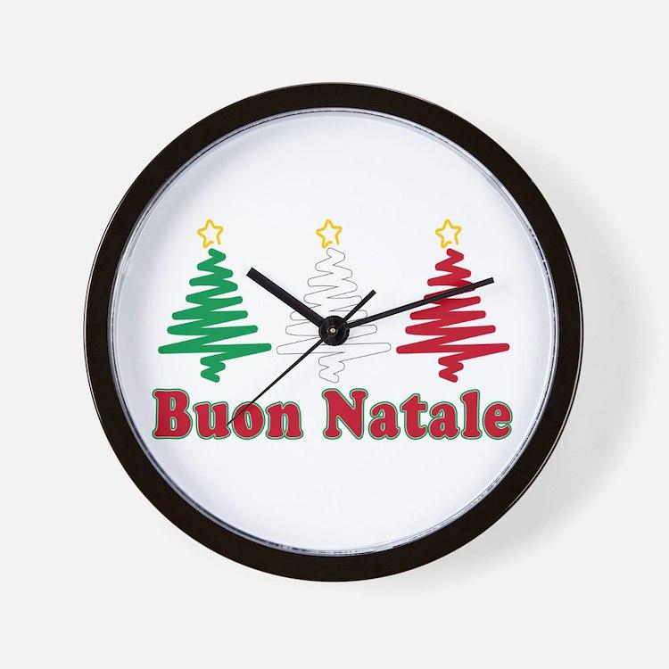 Buon natale Wall Clock